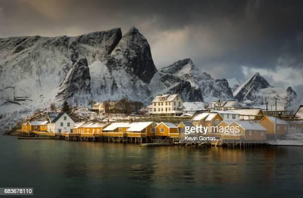 Colorful Norwegian Fishing Village