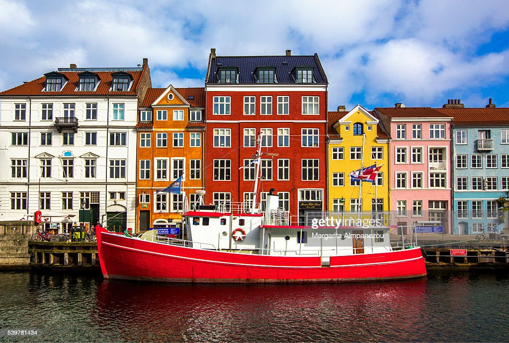 Colorful Nyhavn on a sunny day : Stock Photo