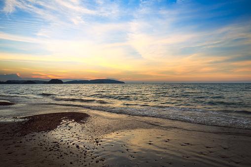 Colorful ocean beach sunset - gettyimageskorea