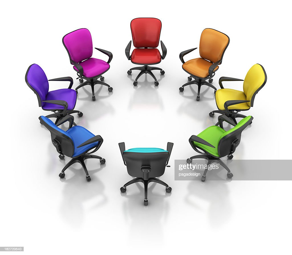 Great Colorful Office Chairs : Stock Photo