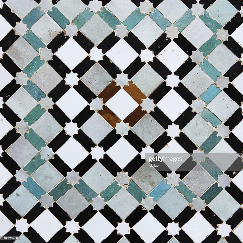 Colorido old azulejos de Meknes medina en Marruecos : Foto de stock