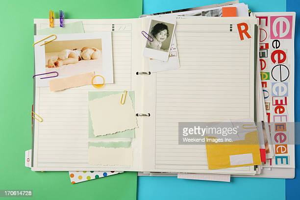 colorful organizer - diary stock pictures, royalty-free photos & images