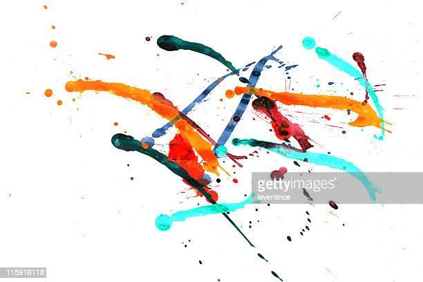 Bunte Farbe splash
