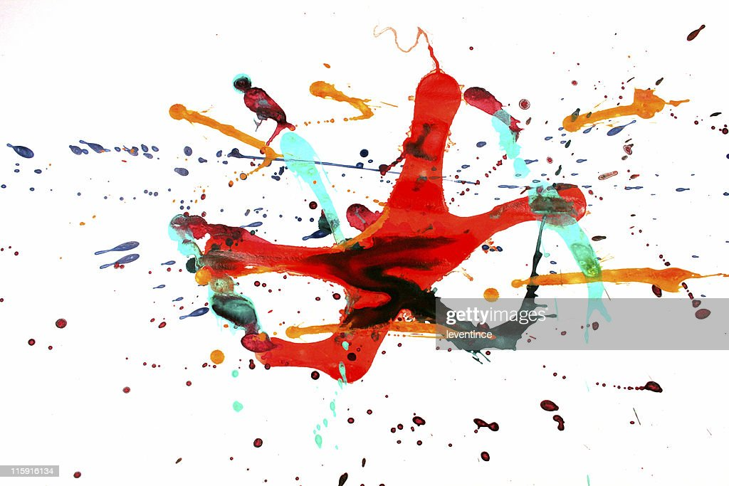 Colorful paint splash : Stock Photo