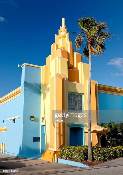 colorful painted Art Deco house Florida