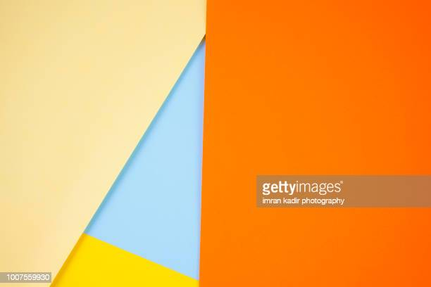 colorful paper for background and texture - geometrische form stock-fotos und bilder