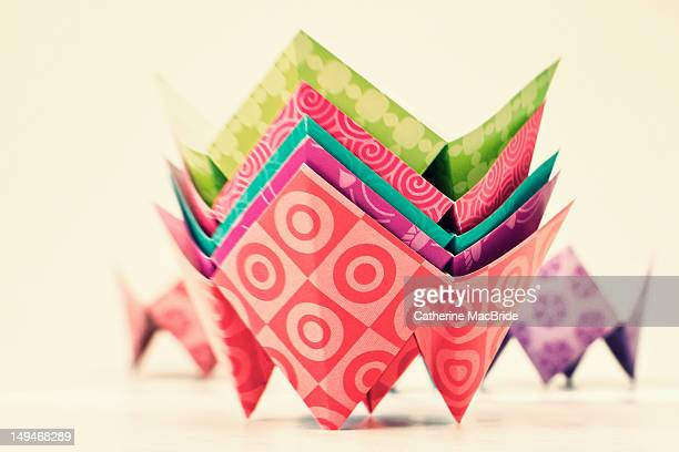 Colorful paper fortune tellers