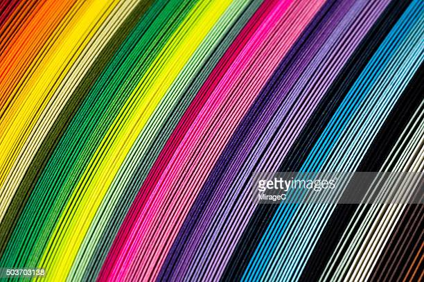 Colorful Paper in Stack Close-up View