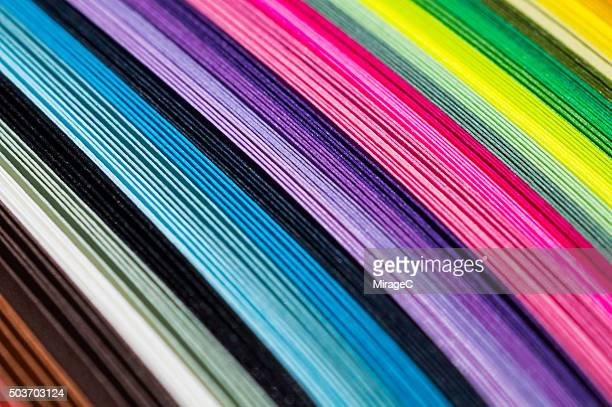Colorful Paper in Stack