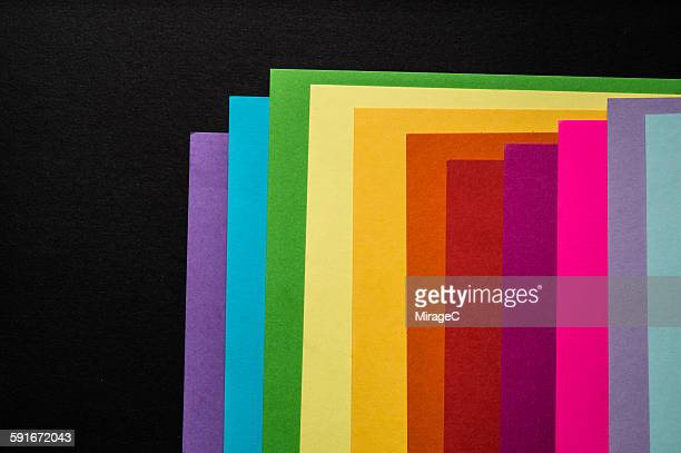 Colorful paper overlay