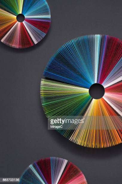 Colorful Paper Pages Pie Charts