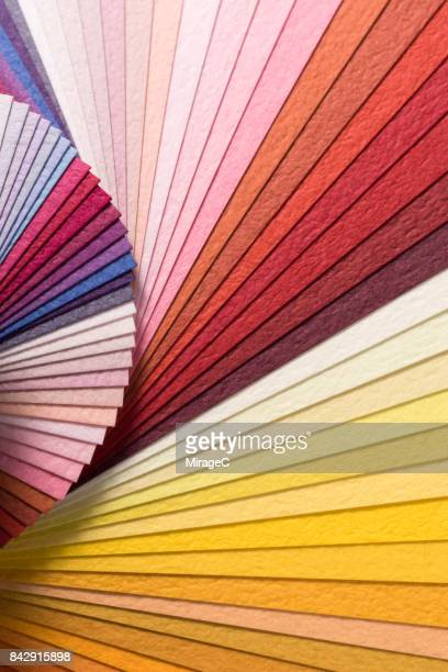 Colorful Paper Pages Spining in Fan Shape