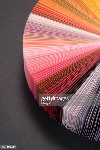 Colorful Paper Pages Spread in Fan Shape