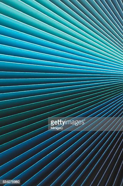 Colorful Paper Pages Stack Radial Gradient, Blue