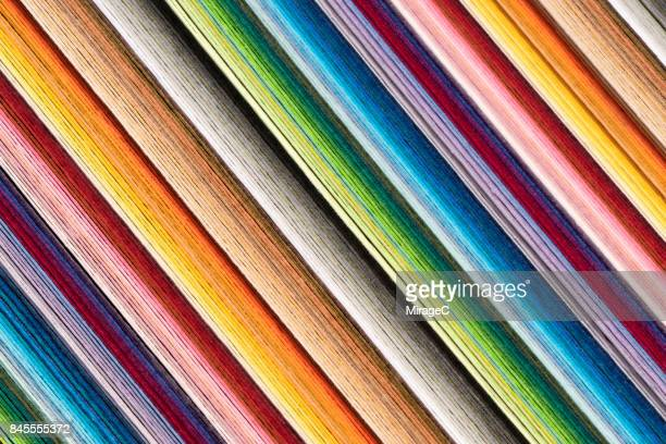 Colorful Paper Pages Stacking