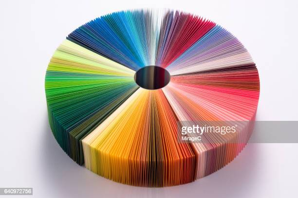 colorful paper pie chart - pie chart stock pictures, royalty-free photos & images