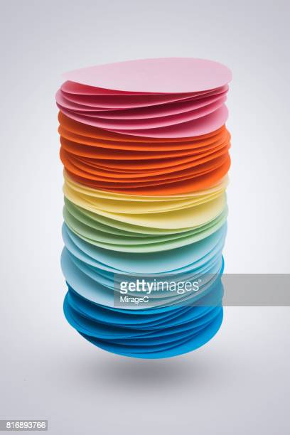 Colorful Paper Pile Levitation in Mid-air