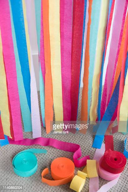 Colorful paper streamers