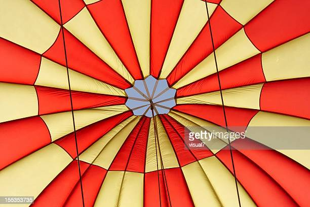 Colorful Parachuter Closeup