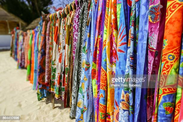 colorful pareos for sale - pierre yves babelon madagascar stock pictures, royalty-free photos & images