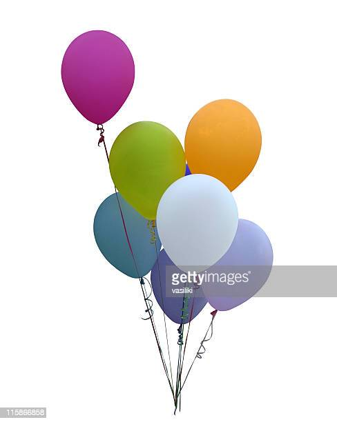 Colorful Party Balloons (path included)