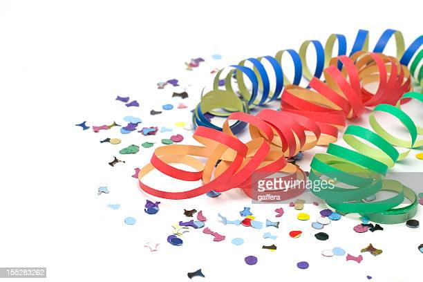 Colorful party decorations on a table