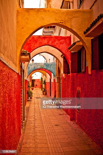 colorful passageway, the old medina  - rabat morocco stock pictures, royalty-free photos & images