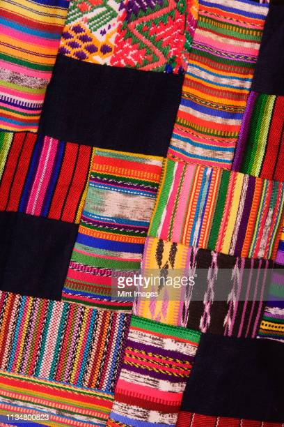 colorful patch fabric - patchwork stock pictures, royalty-free photos & images