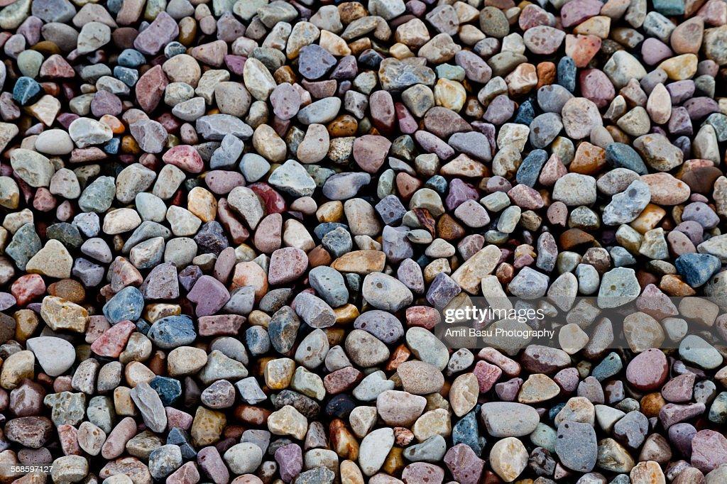 Colorful pebbles, Grand Teton, Wyoming : Stock Photo