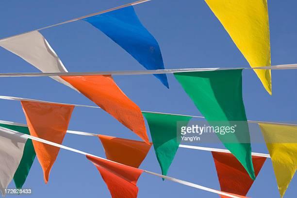 Fanion coloré bannière drapeaux Festivals, parking pour des ventes événements
