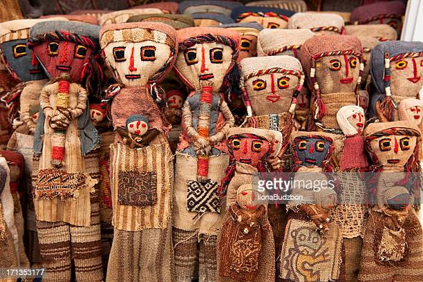Colorful Peruvian dolls
