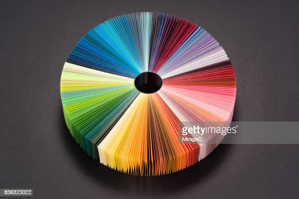 Colorful Pie Chart Consists of Paper Pages