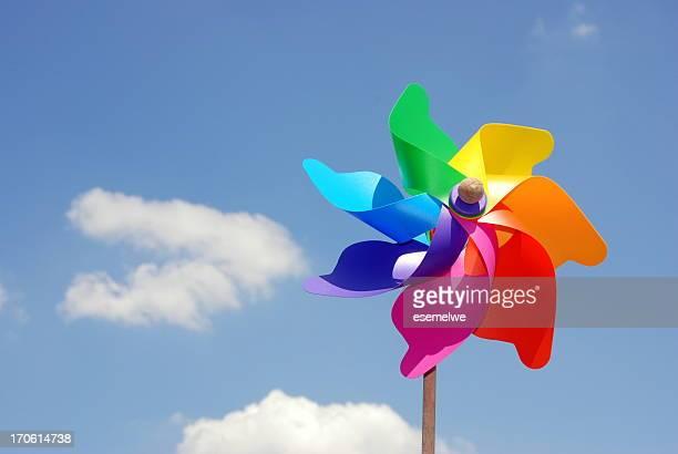 Coloré Moulin à vent