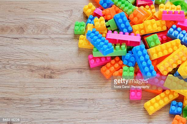 colorful plastic toy block
