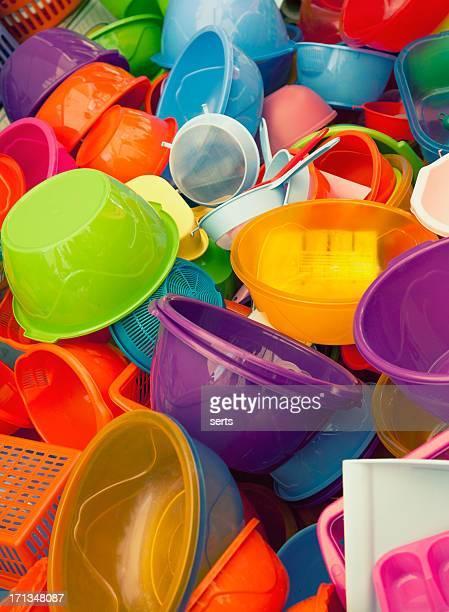 カラフルなプラスチック