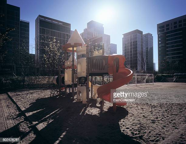 Colorful playground in Songdo, South Korea