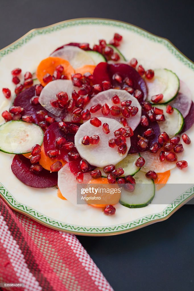 Colorful Pomegranate Salad : Stock Photo