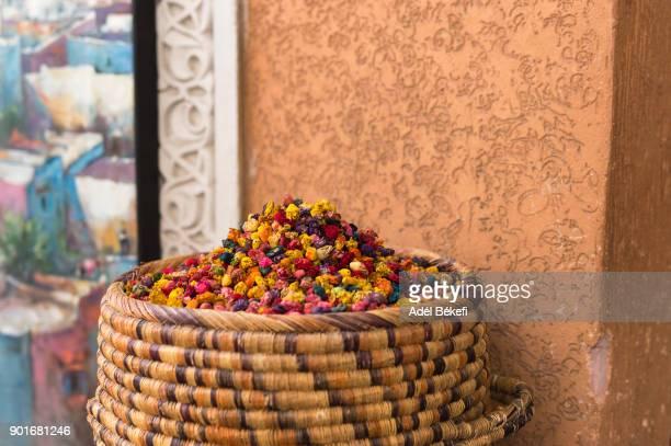 Colorful Potpourri In Basket