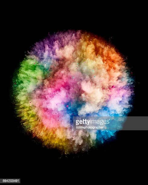 Colorful Powder Ball Explosion