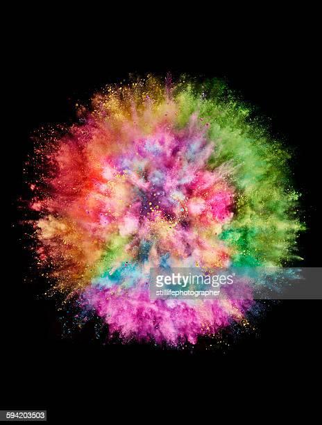 colorful powder explosion - image photos et images de collection