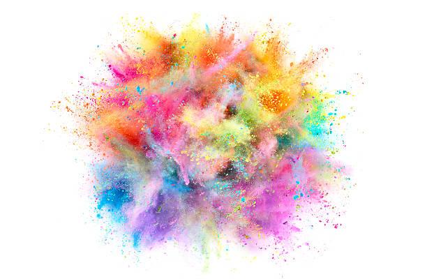 colorful powder explosion - 彩色影像 個照片及圖片檔