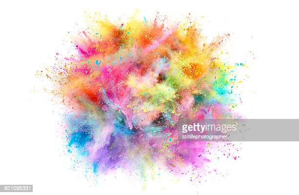colorful powder explosion - image en couleur photos et images de collection
