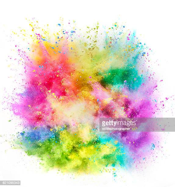 colorful powder explosion - pops of bright color stock pictures, royalty-free photos & images