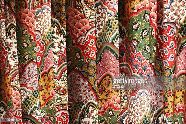 Colorful Printed Folds of Fabric