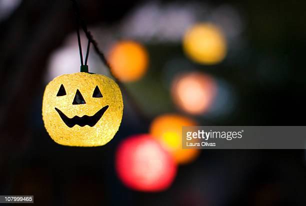 Colorful Pumpkin Halloween Lights