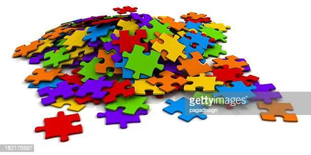 colorful puzzle heap