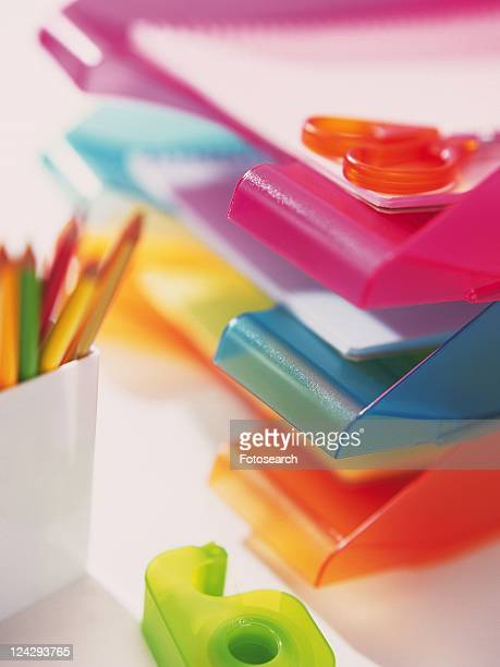 Colorful rack for papers and stationeries