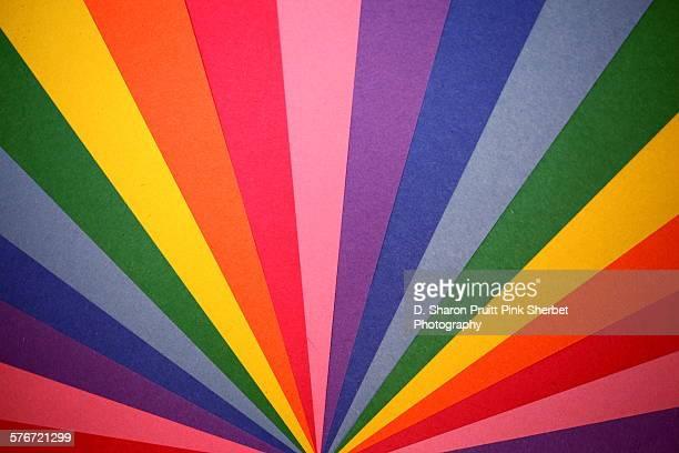 Colorful Rainbow Construction Paper Fan
