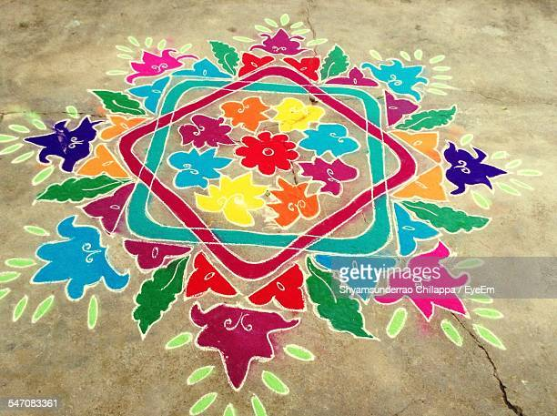Colorful Rangoli For Traditional Festival