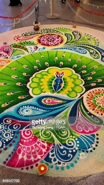 Colorful rangoli for traditional festival